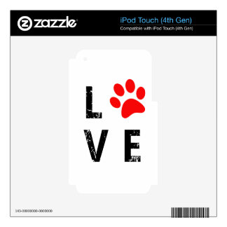 love and dog iPod touch 4G decals