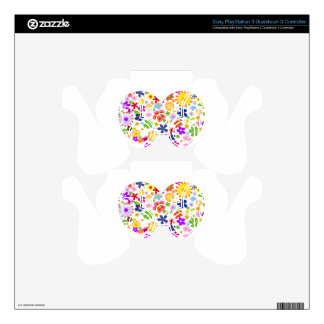 Love and Flower PS3 Controller Skin