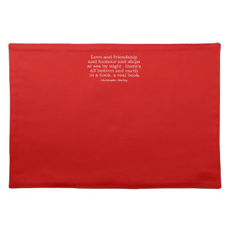 Love and Friendship and Humour and Ships at Sea Place Mat