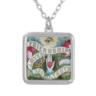 Love and Friendship Luck Silver Plated Necklace