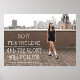 Love and Glory Ceili Moore Irish Dance Poster