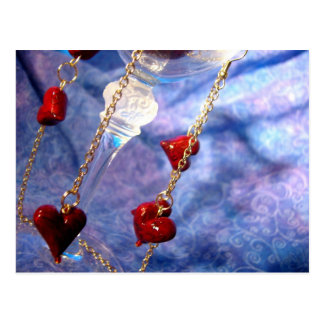 Love and Gold Dangles Postcard