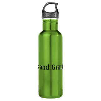 Love and Gratitude Stainless Steel Water Bottle