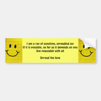 Love and Happiness_ Bumper Sticker