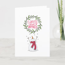Love and Happiness Collection Joyful Snowman Holiday Card