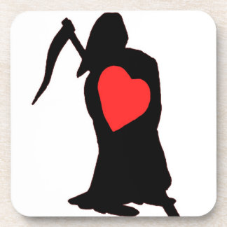 Love and Hate, Life and Death, Reaper, Red Heart ( Beverage Coaster
