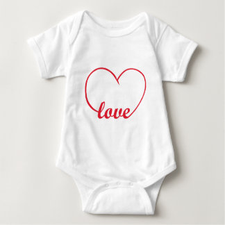 Love and Heart Baby Bodysuit