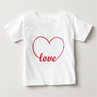 Love and Heart Baby T-Shirt