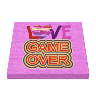 Love and Heart Game Over 4 Canvas Print
