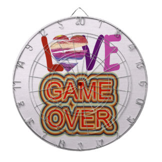 Love and Heart Game Over Dartboard With Darts