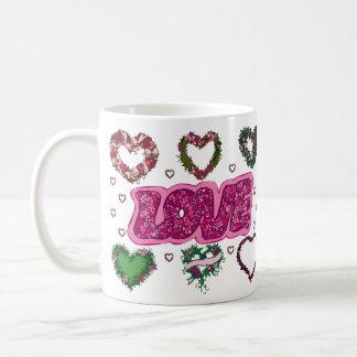 Love and Heart Wreaths Mugs