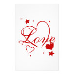 Love and Hearts Customized Stationery