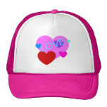 Love and Hearts Design on T-Shirts, Gifts and More Mesh Hat