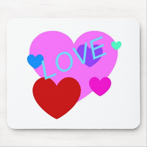 Love and Hearts Design on T-Shirts, Gifts and More Mouse Pads