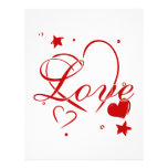 Love and Hearts Personalized Flyer