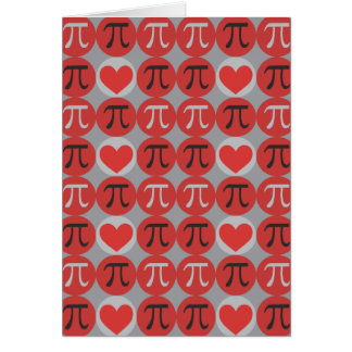 Love and Hearts Pi Greeting Card