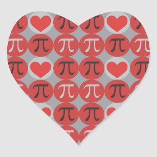 Love and Hearts Pi Stickers - Cute Pi Day Gift