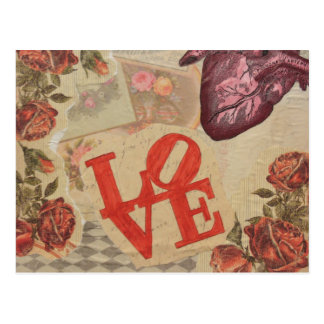 Love and Hearts Postcard