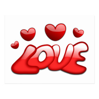 Love and Hearts Postcard