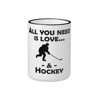 Love And Hockey Coffee Mug