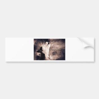 love and Hope Siberian husky Car Bumper Sticker