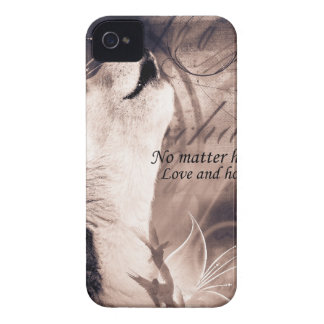 love and Hope Siberian husky iPhone 4 Case-Mate Case