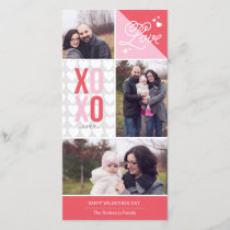 Love and Hugs Photo Valentine Holiday Card