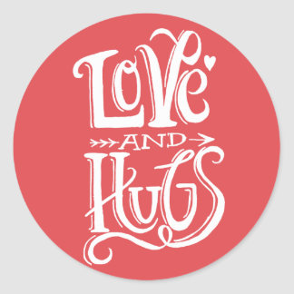 Love and Hugs | Round Sticker