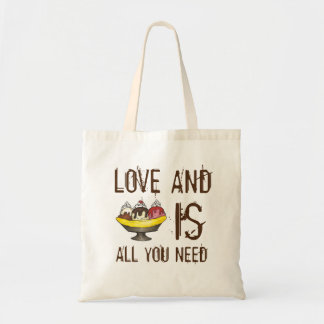 Love and Ice Cream is All You Need Sundae Tote