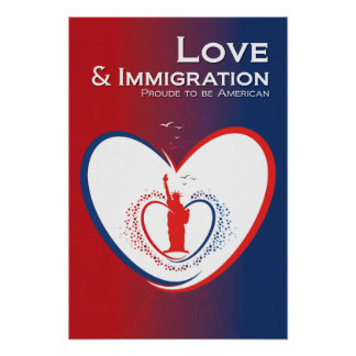 Love and Immigration -USA Poster