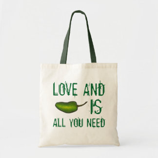 Love and Jalapeno is All You Need Green Pepper Bag