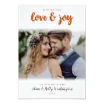 Love and Joy Newlyweds Holiday Photo Card