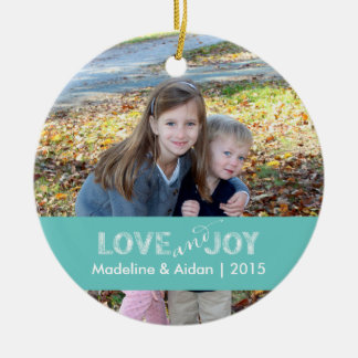 Love and Joy   Personalized Photo Ornament