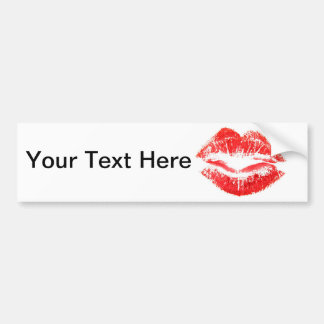 Love and Kisses - Smooth Bumper Sticker