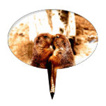 Love and Kissing  Prairie Dog Cake Topper