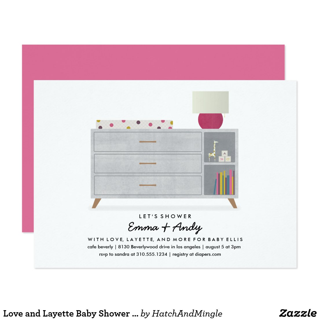 Love and Layette Baby Shower Invitations