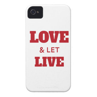 Love And Let Live iPhone 4 Case-Mate Case