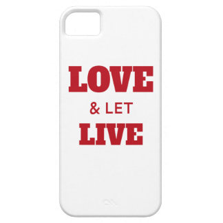 Love And Let Live iPhone SE/5/5s Case