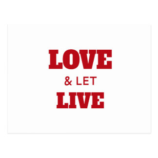 Love And Let Live Postcard
