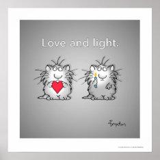 Love And Light By Sandra Boynton Poster at Zazzle
