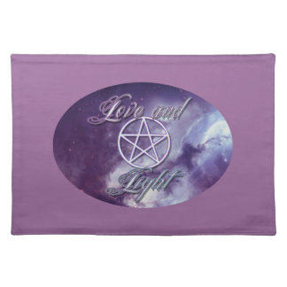 Love and Light with pentacle Cloth Placemat
