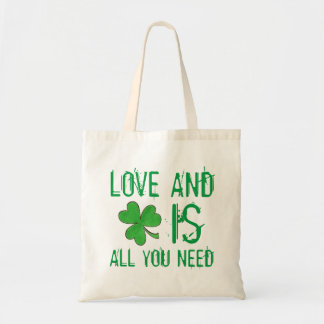 Love and Luck is All You Need Irish Shamrock Tote