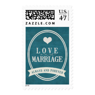Love and Marriage Always and Forever Vintage Stamp
