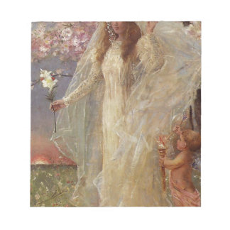 Love and marriage by Alfred Stevens Notepad