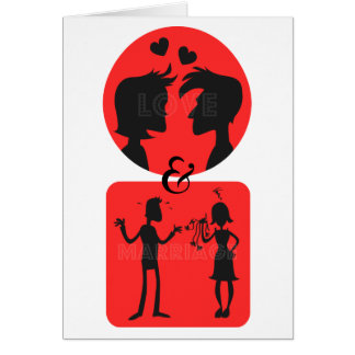 Love and Marriage Couples Valentines Day Card