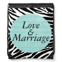Love and Marriage Drawstring Backpack