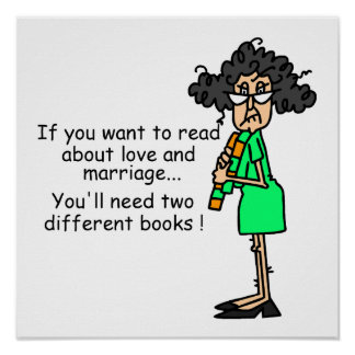 Love and Marriage Humor Poster
