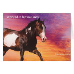 Love and Miss you Horse Greeting Card