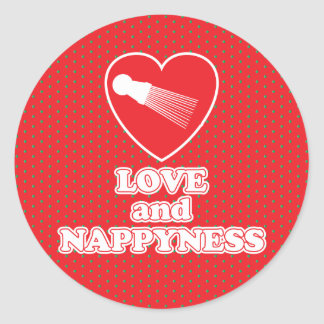 Love and Nappyness Natural Hair Fashion Classic Round Sticker