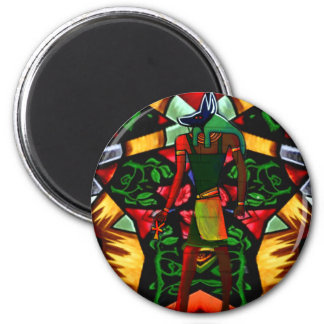 Love and Peace_ 2 Inch Round Magnet